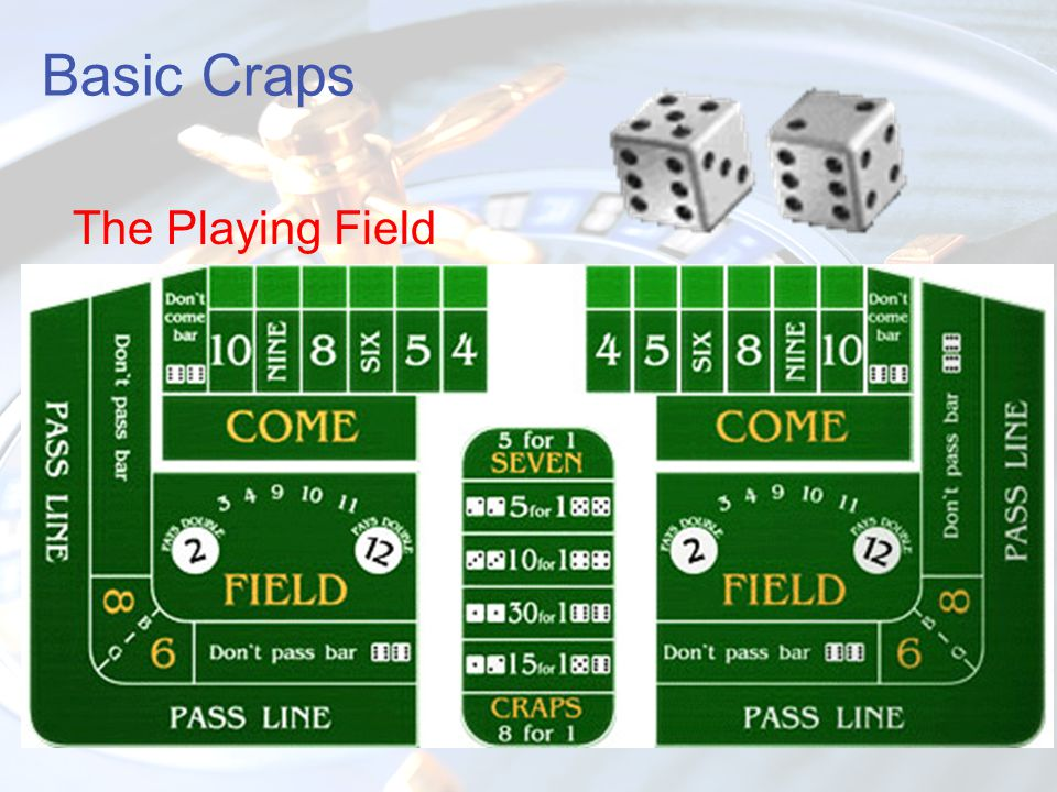 Basic Craps The Playing Field