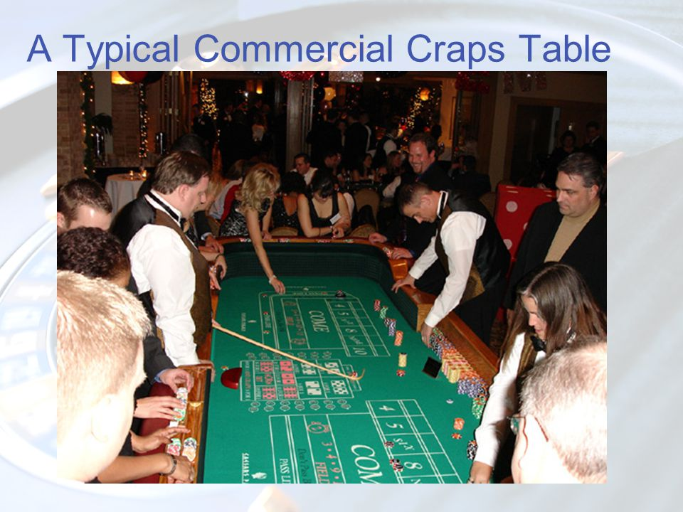 A Typical Commercial Craps Table