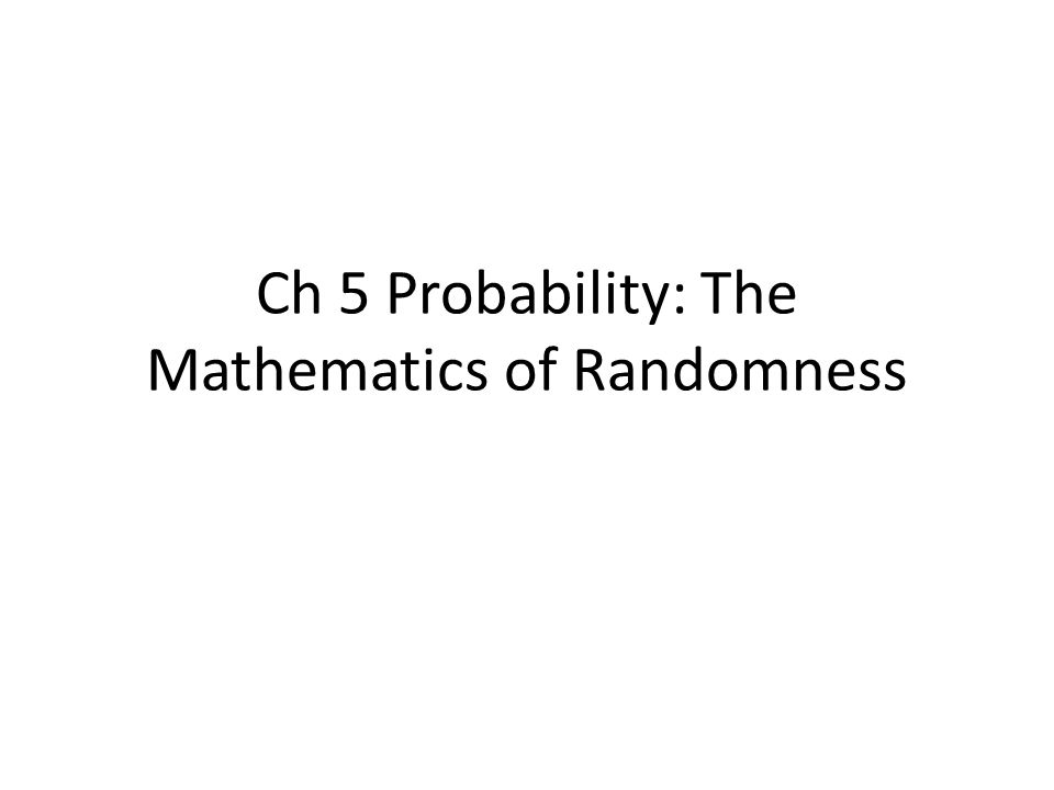 5.1.1 Random Variables and Their Distributions A random variable is a quantity that (prior to observation) can be thought of as dependent on chance phenomena.