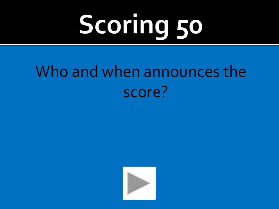 ScoringRulesThe CodeStrokesToss UpMMUThe Game 50 100 200 300 500