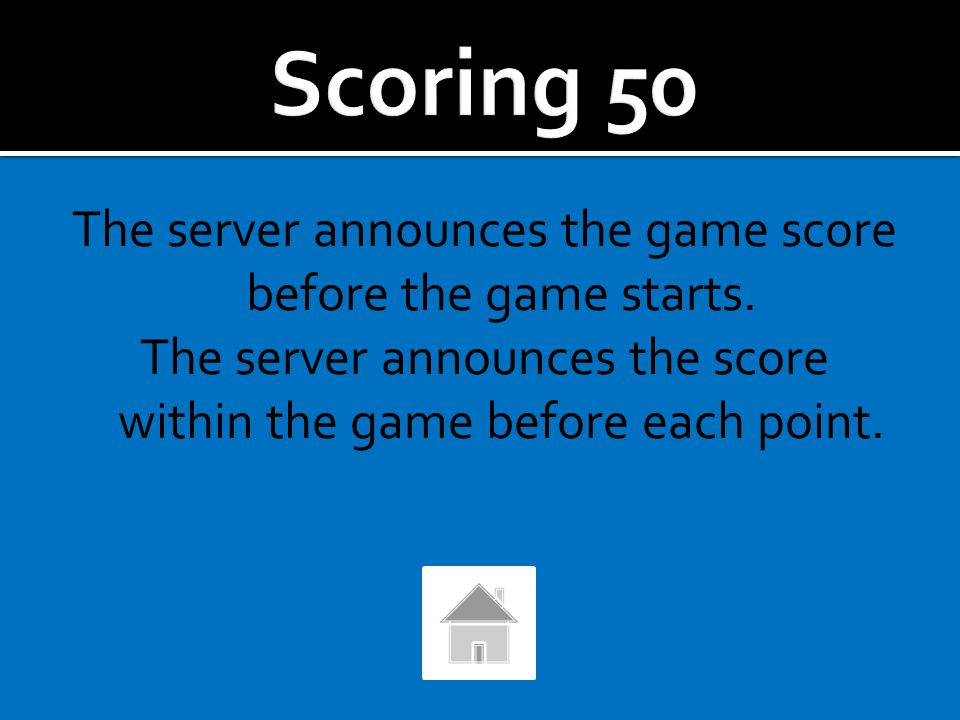 Who and when announces the score