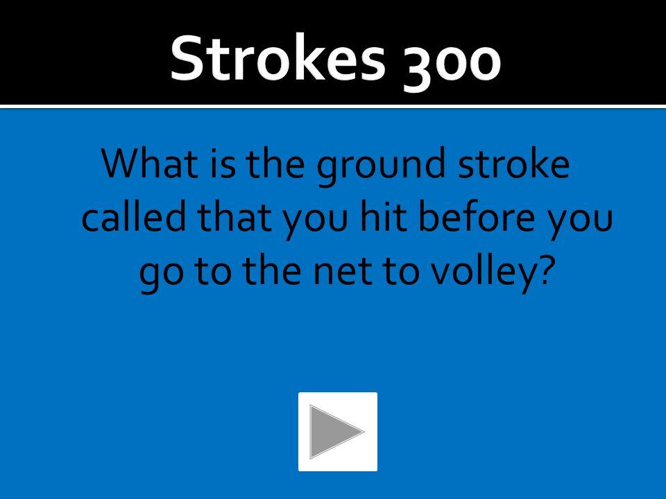 A Half-volley.