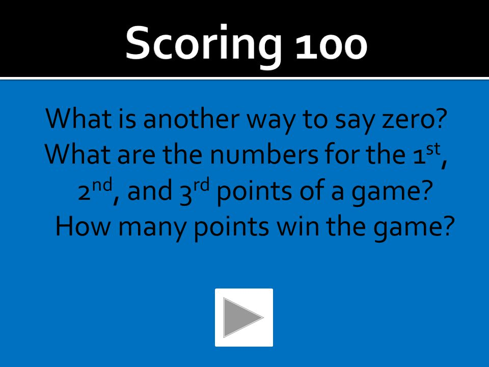 The server announces the game score before the game starts. The server announces the score within the game before each point.