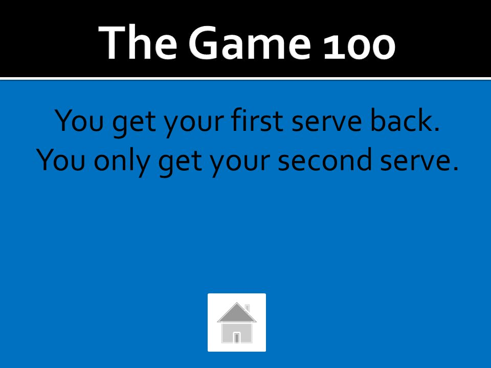 """What happens if your first serve hits the top of the net and goes """"in""""? What happens if your second serve hits the net and goes """"in""""?"""
