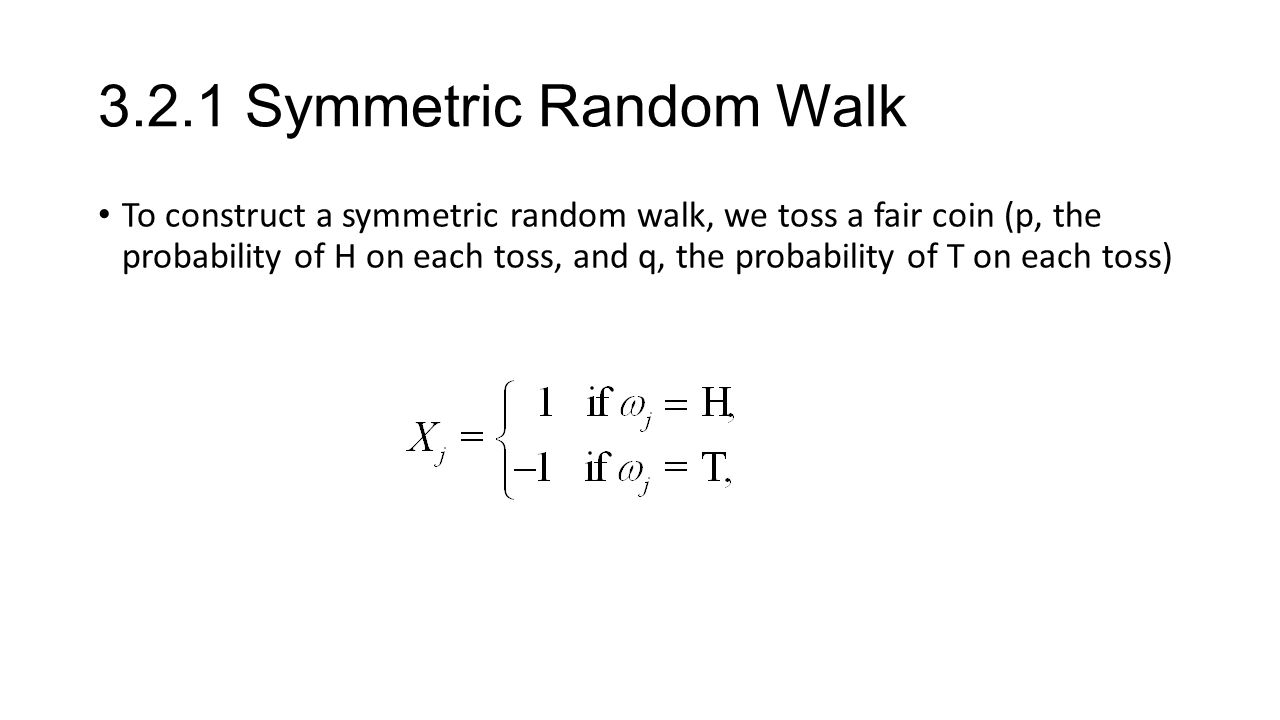 3.2.1 Symmetric Random Walk