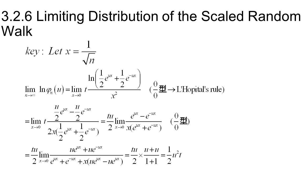 3.2.6 Limiting Distribution of the Scaled Random Walk