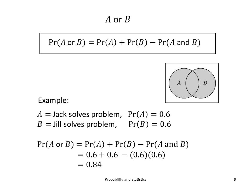 Probability and Statistics9 Example: