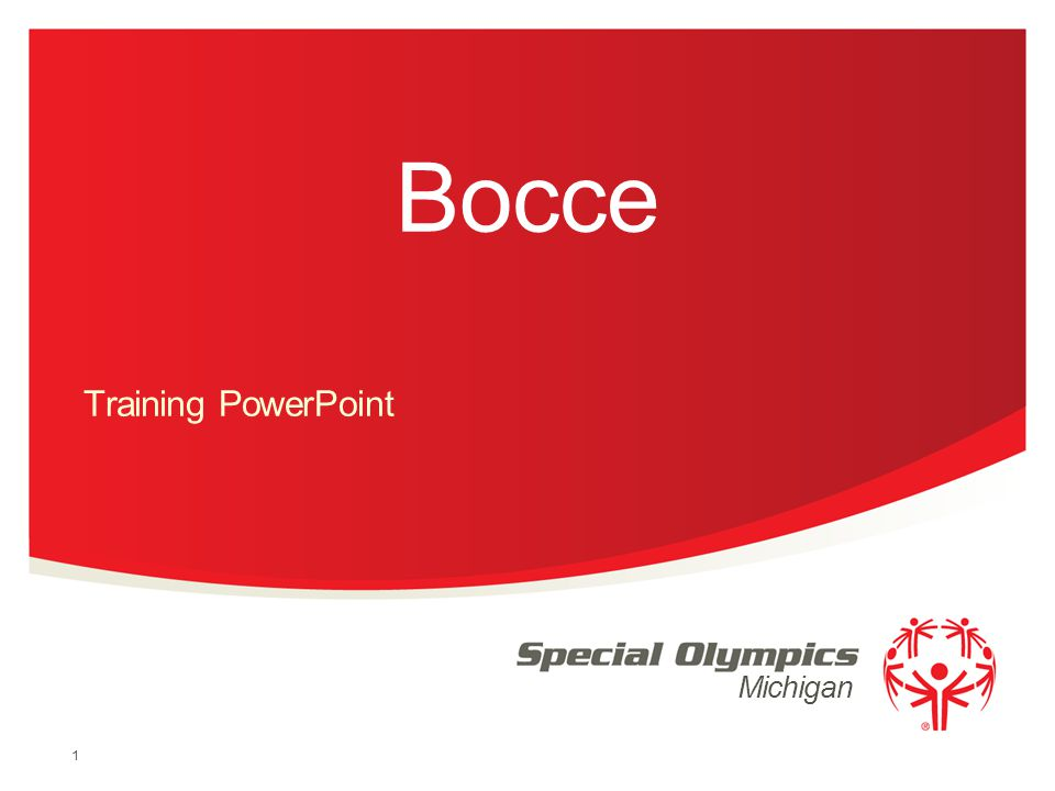 Michigan Bocce Training PowerPoint 1
