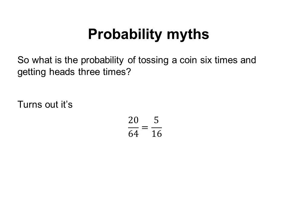 Probability myths