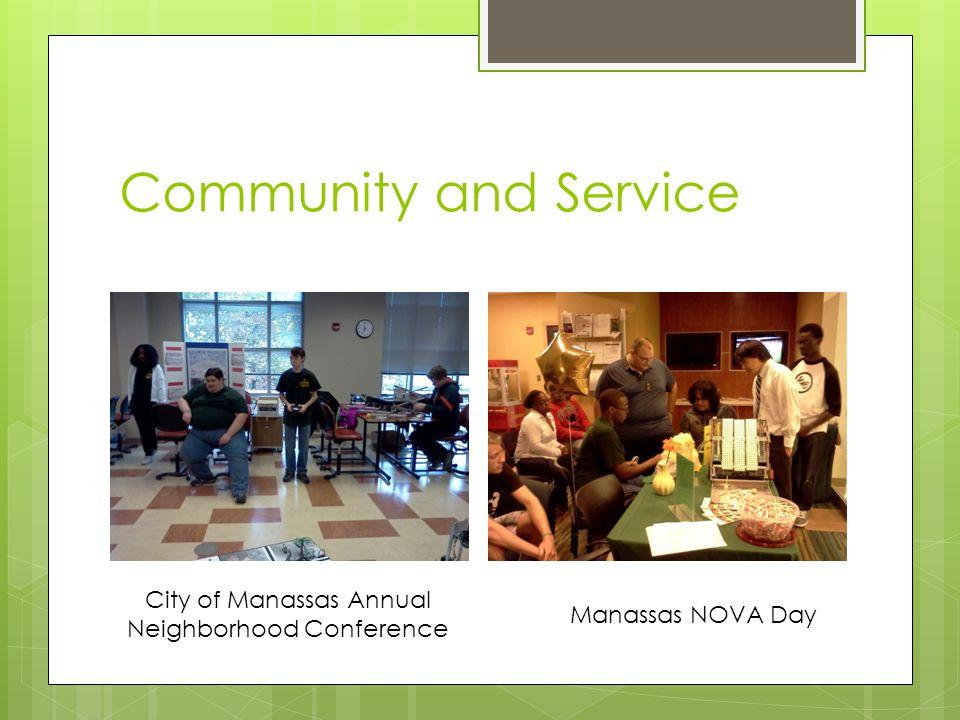 Community and Service City of Manassas Annual Neighborhood Conference Manassas NOVA Day