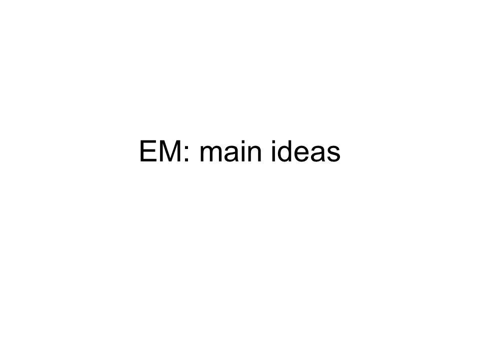 EM: main ideas