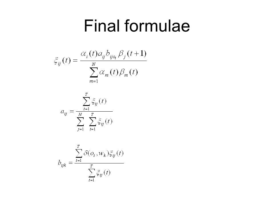 Final formulae