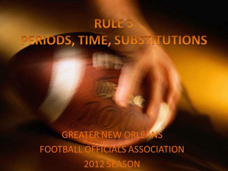 GREATER NEW ORLEANS FOOTBALL OFFICIALS ASSOCIATION 2012 SEASON