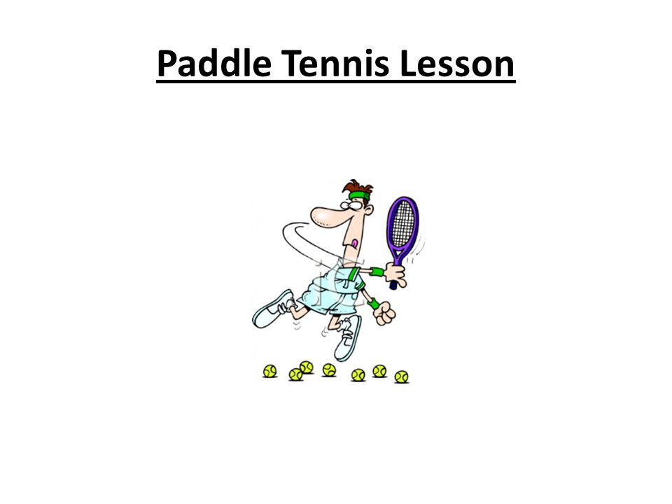 Paddle Tennis Lesson