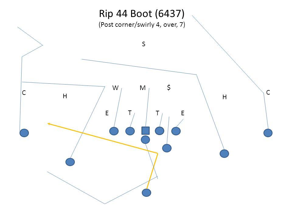 Rip 44 Boot (6437) (Post corner/swirly 4, over, 7) T TEE MW S H C H C $
