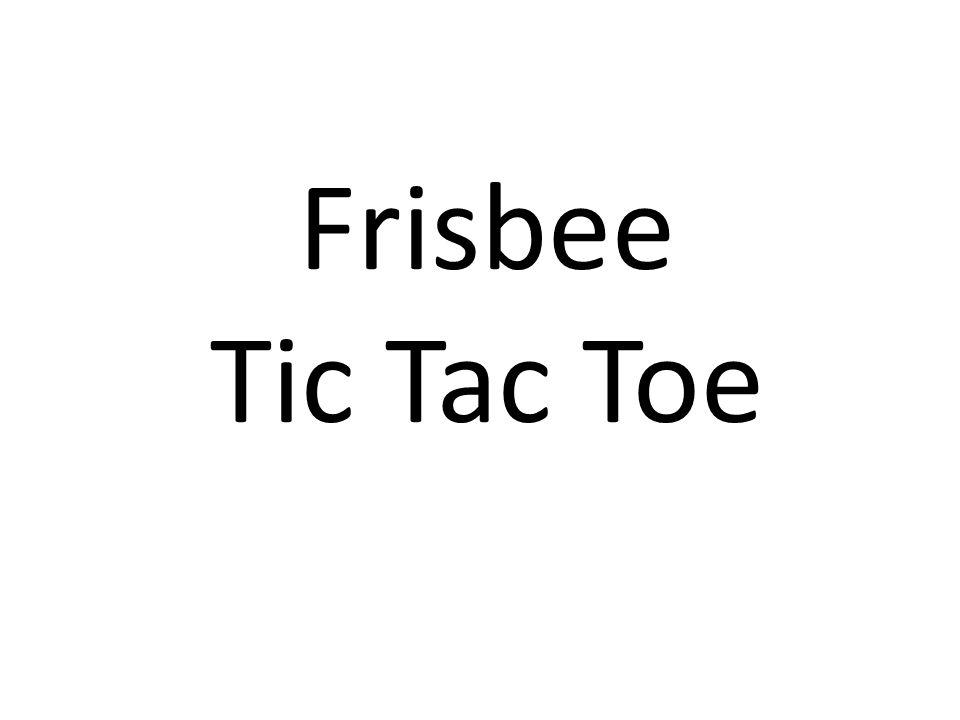 Frisbee Tic Tac Toe