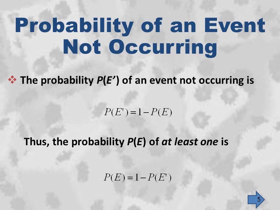 n(G) = 5 ; n(W) = 9 ; n(other) = 15; and n(U) = 29 5 nCr 1  9 nCr 2  15 nCr 3 29 nCr 6 P(E) == 5 29 = 0.1724 16 END