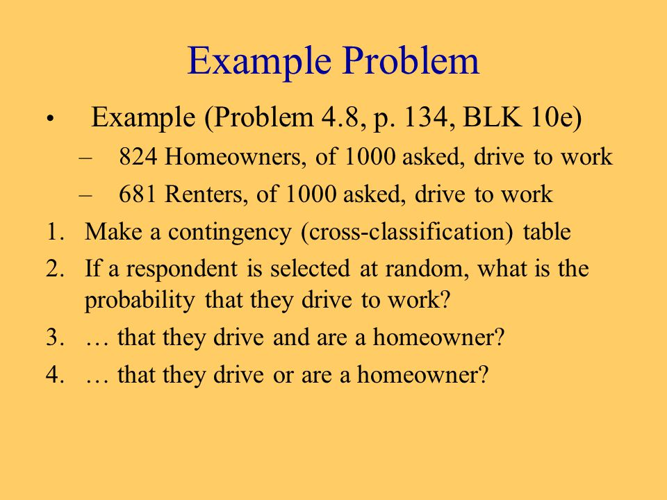 Example Problem Example (Problem 4.8, p.