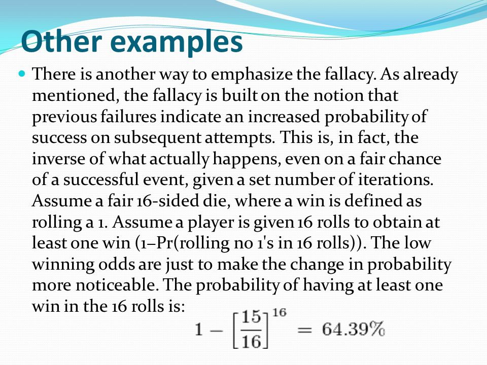 It does appear, however, that an individual s susceptibility to the gambler s fallacy decreases with age.