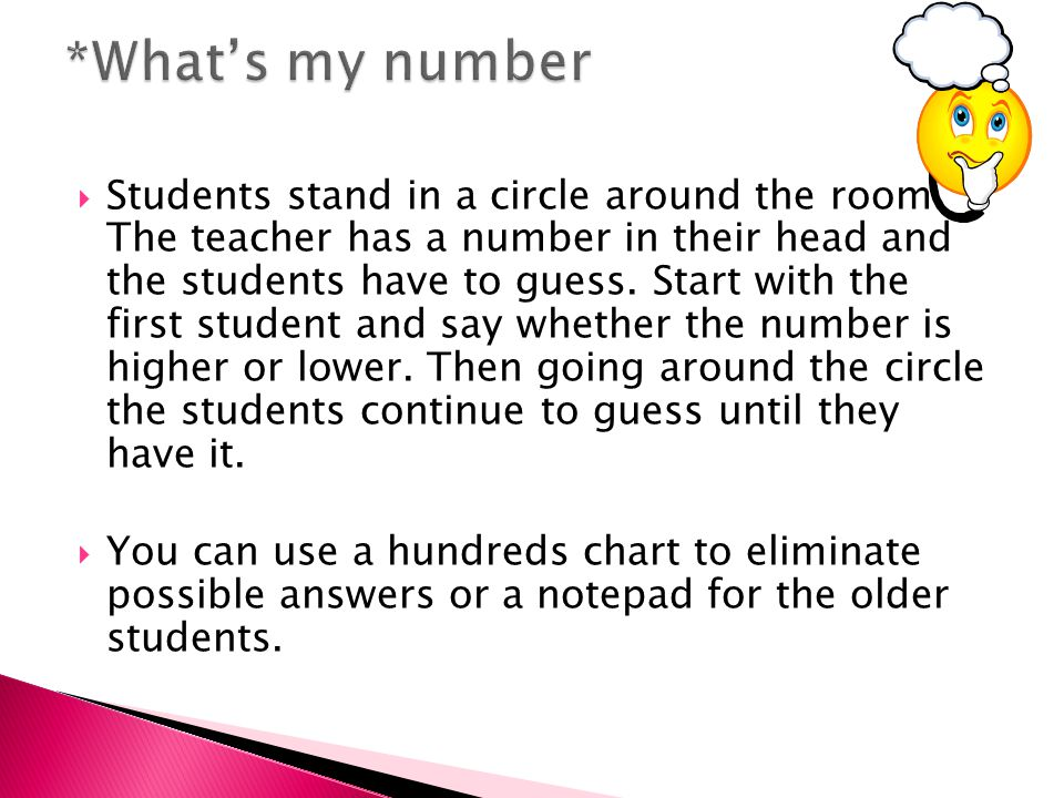  Students stand in a circle around the room.