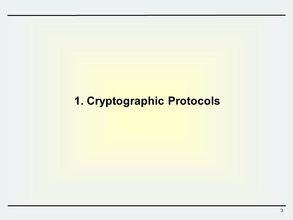 4 Cryptographic Protocols  Cryptographic algorithms Algorithm executed by a single entity Algorithms performing cryptographic functions Encryption, Hash, digital signature, etc…  Cryptographic protocols Protocols executed between multiple entities through pre-defined steps of communication performing security-related functions Perform more complicated functions than what the primitive algorithms can provide Primitives: Key agreement, secret sharing, blind signature, coin toss, secure multiparty computations, etc … Complex application protocols: e-commerce, e-voting, e-auction, etc …