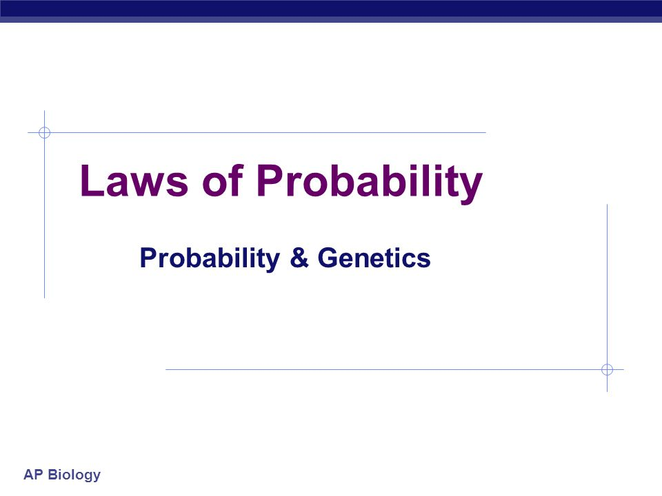 AP Biology Laws of Probability Probability & Genetics