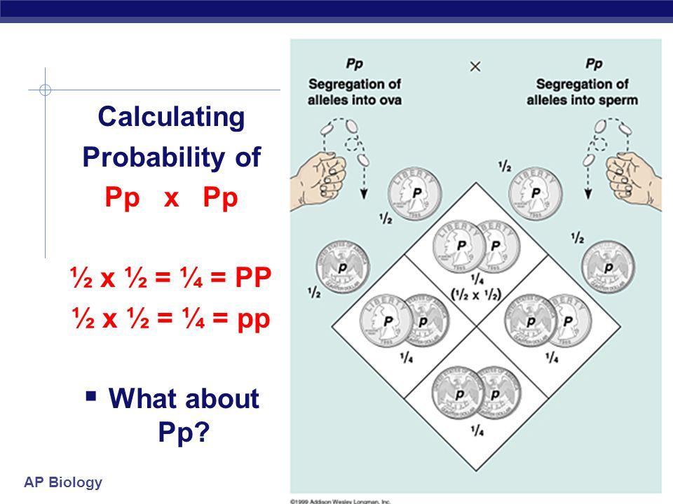AP Biology Calculating Dihybrid Probability  Rule of multiplication application with Dihybrid crosses:  heterozygous parents — YyRr  probability of producing yyrr.