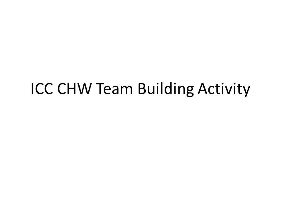ICC CHW Team Building Activity