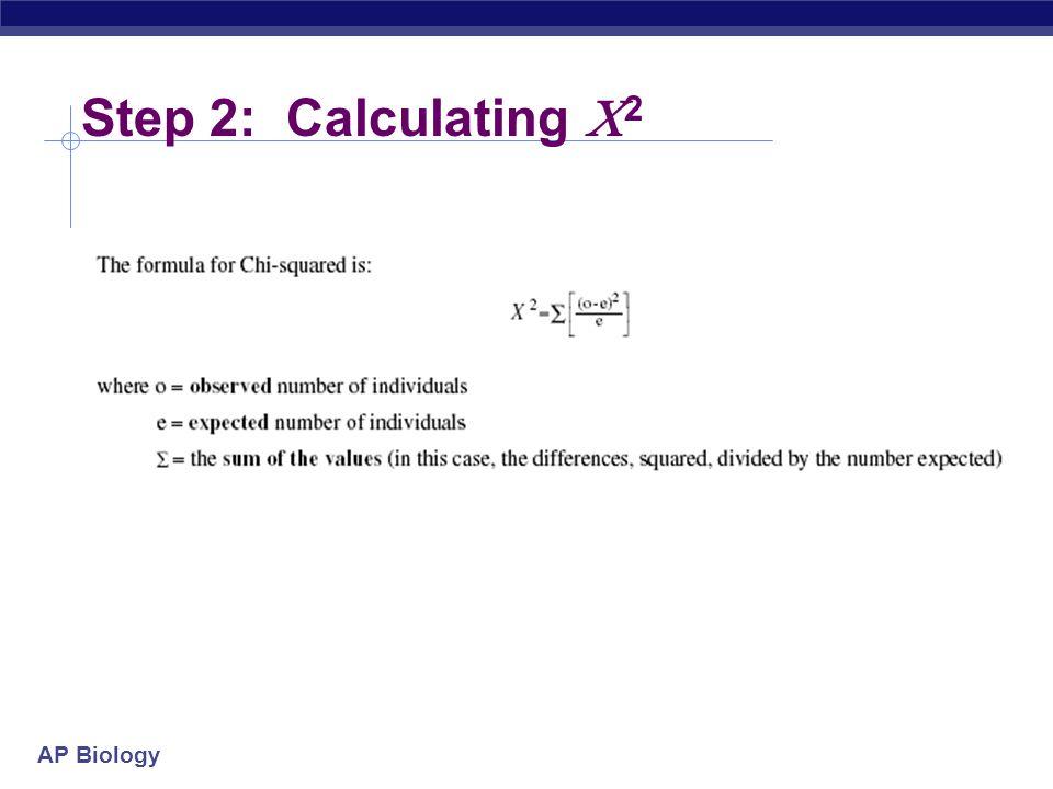 AP Biology Step 2: Calculating  2