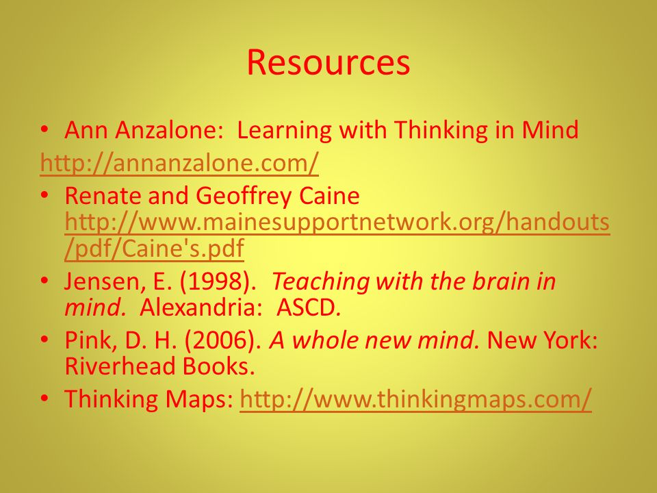 What do you know? http://www.thinkingmaps.com/ Brain- Based