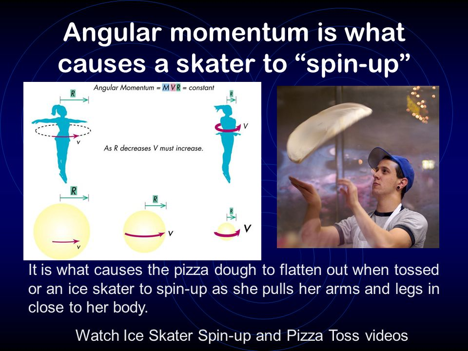 The Spin-up causes the cloud to flatten out Angular momentum keeps stuff from falling straight in.