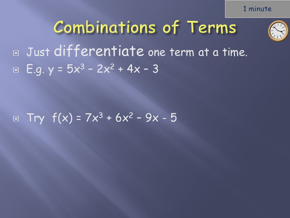  Just differentiate one term at a time.  E.g.