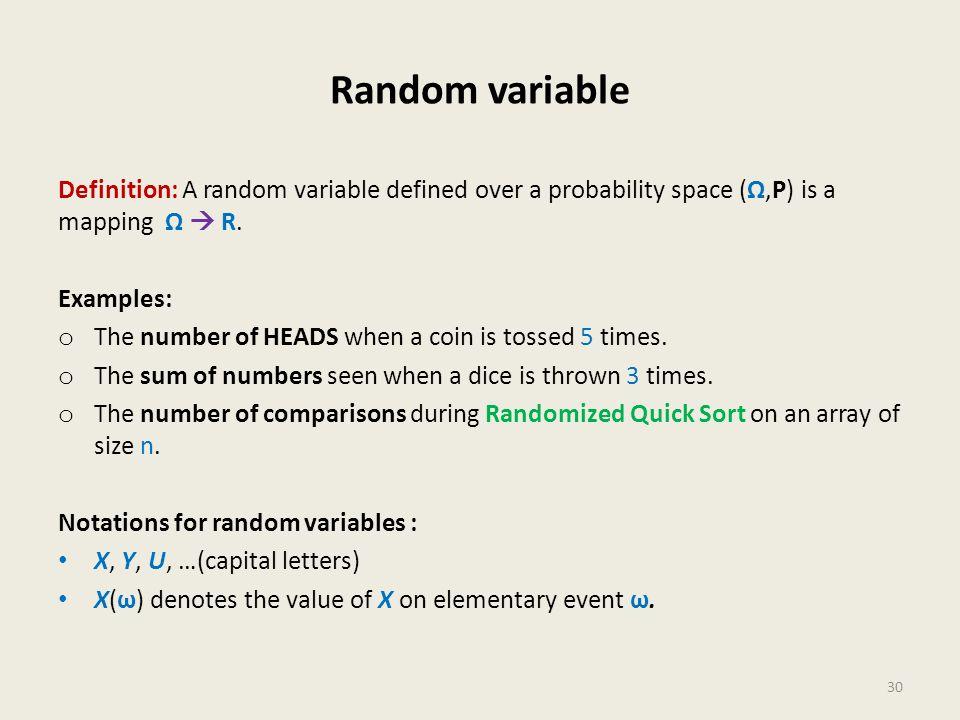 Random variable 30