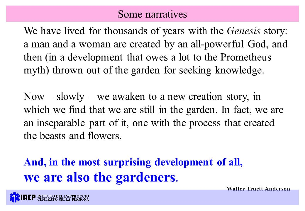 We have lived for thousands of years with the Genesis story: a man and a woman are created by an all-powerful God, and then (in a development that owes a lot to the Prometheus myth) thrown out of the garden for seeking knowledge.