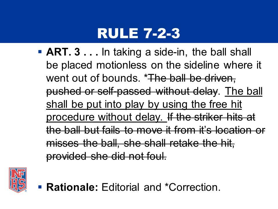 RULE 7-2-3  ART. 3...