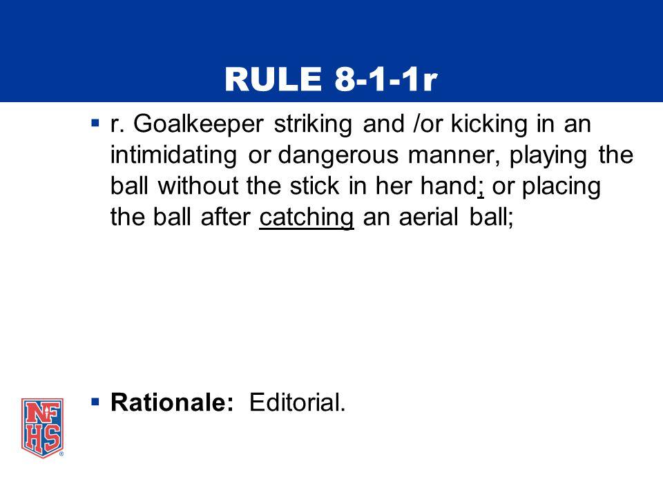 RULE 8-1-1r  r.