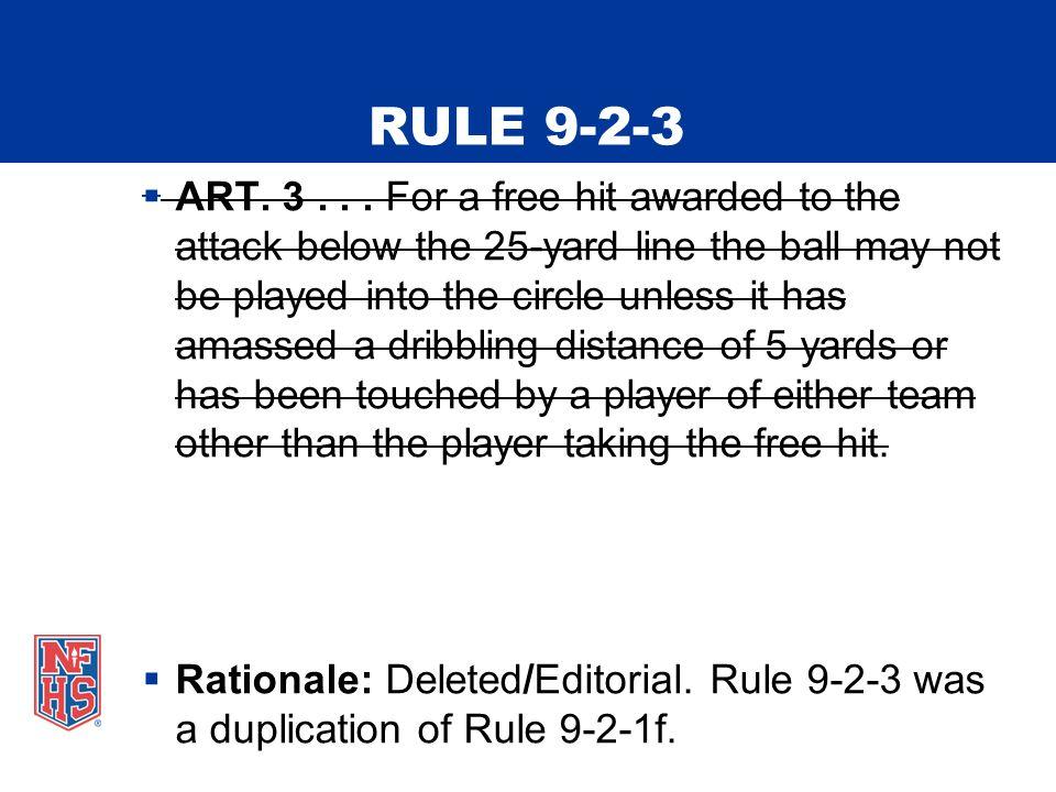 RULE 9-2-3  ART. 3...
