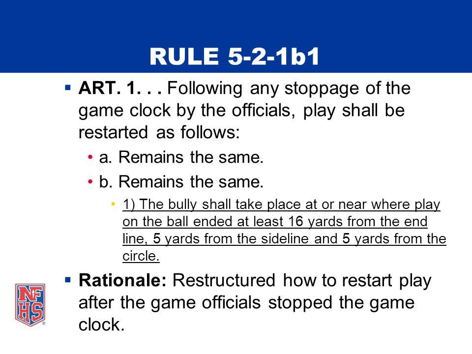 RULE 5-2-1b1  ART. 1...