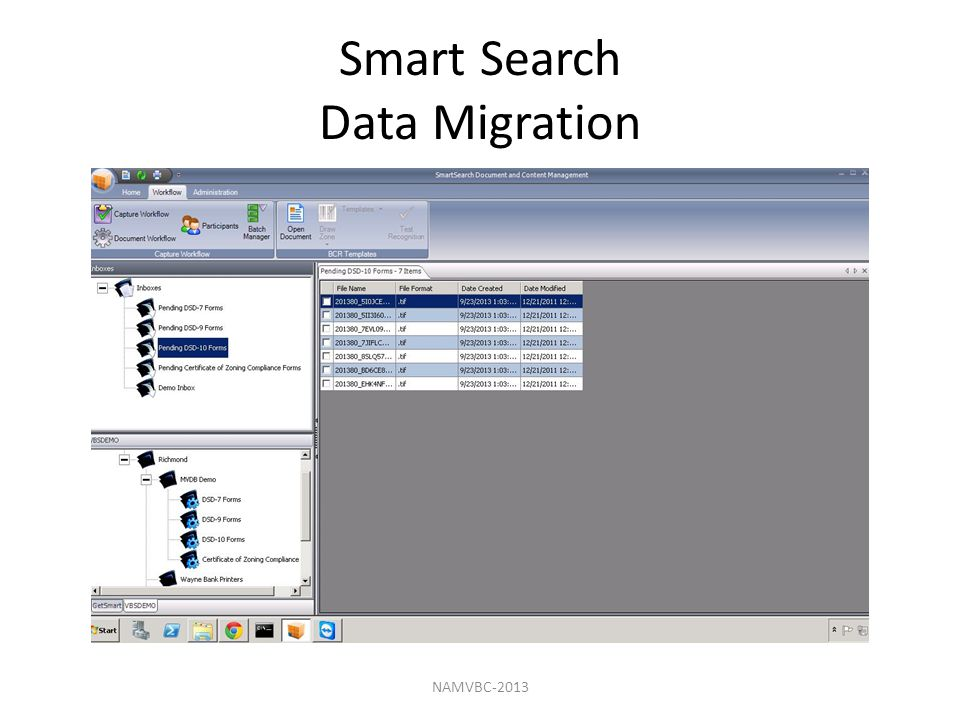 Smart Search Data Migration NAMVBC-2013