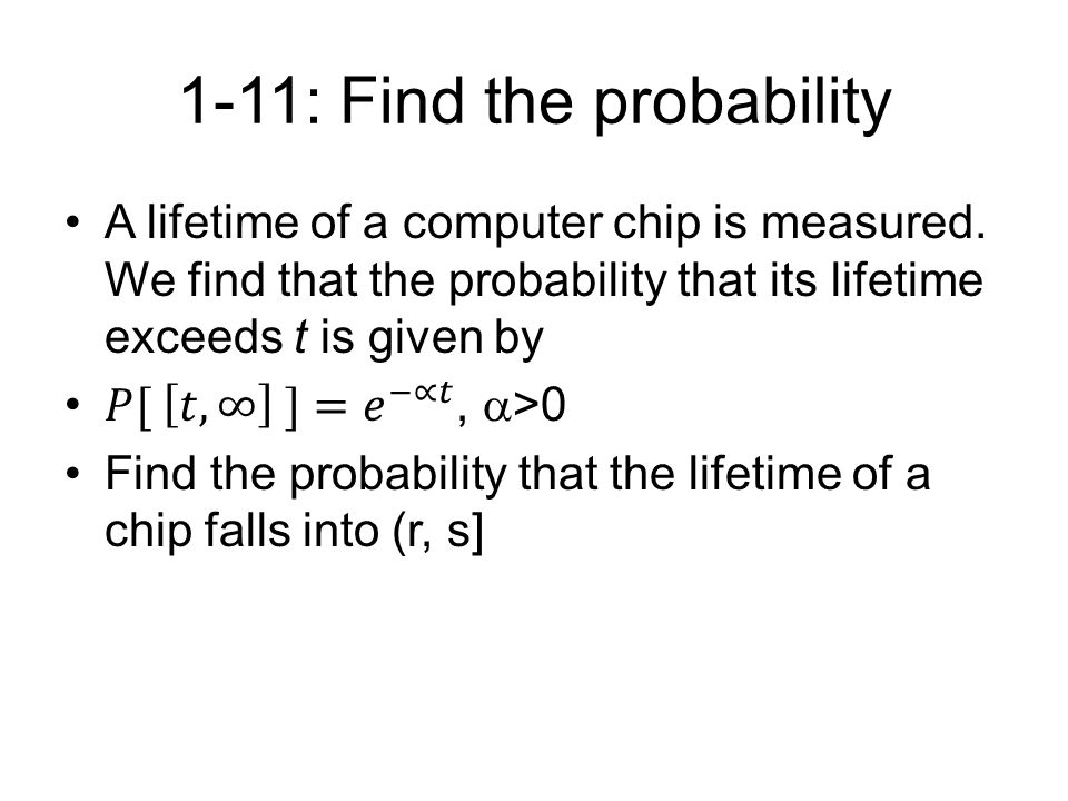 1-11: Find the probability