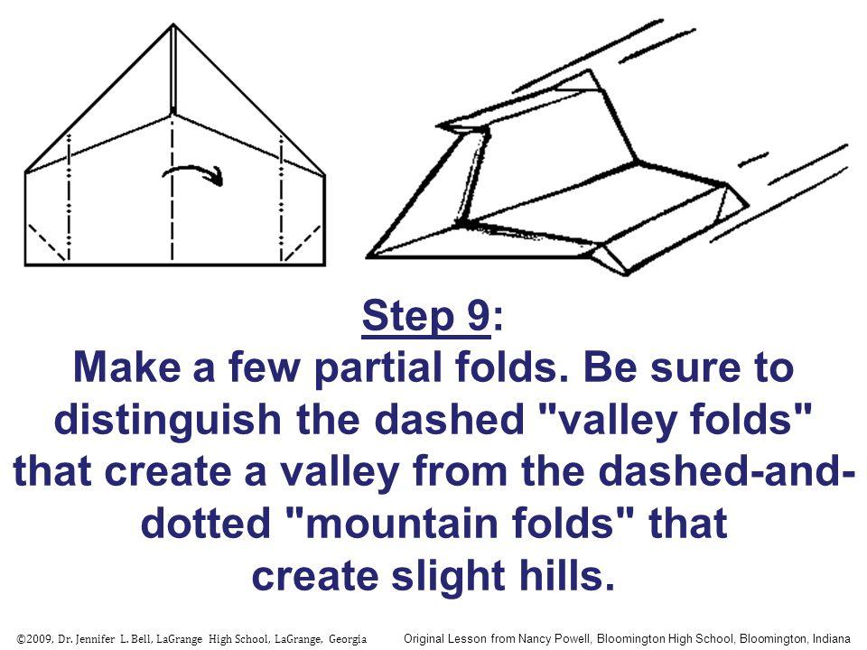 Step 9: Make a few partial folds.