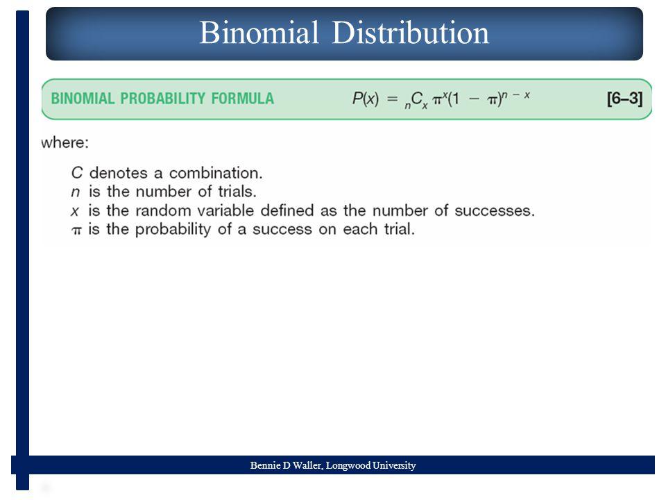Bennie D Waller, Longwood University Binomial Distribution