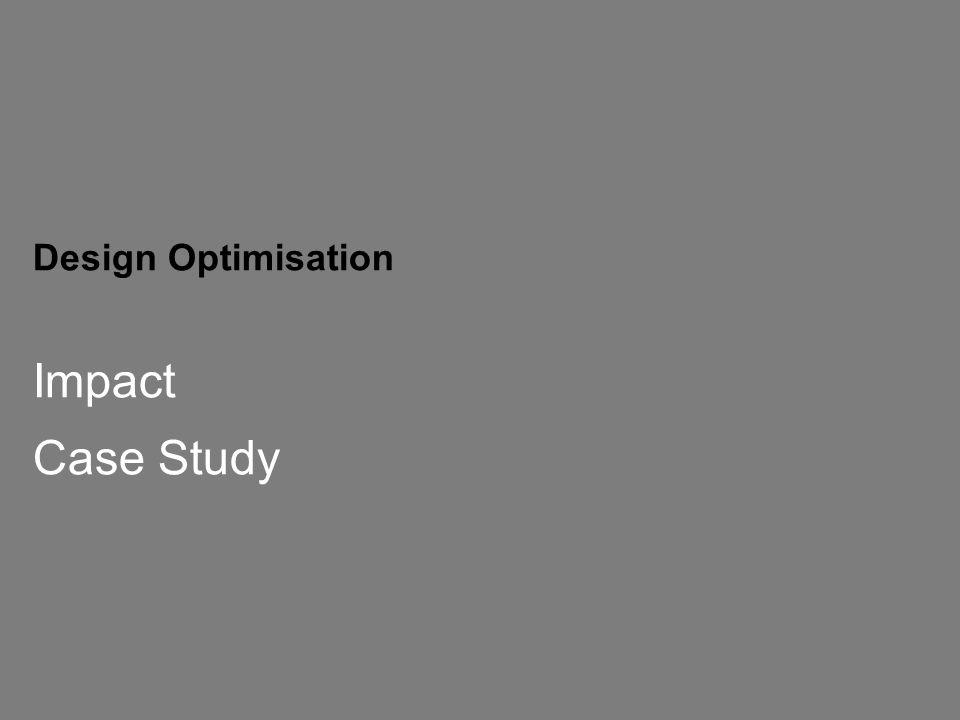 CONFIDENTIAL 23 Design Optimisation Impact Case Study