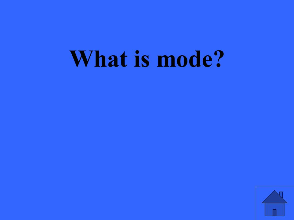 What is mode?