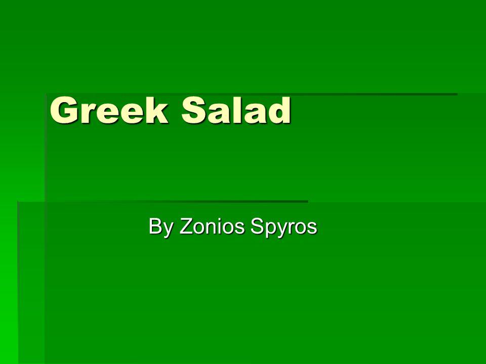 Greek Salad By Zonios Spyros