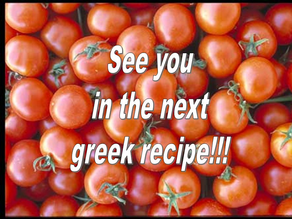 Serve and enjoy it !!! Note: Use only the original Greek feta, not other imitation