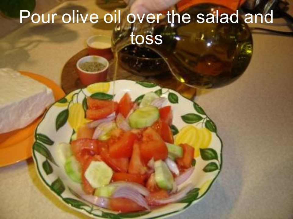 Combine all in a large salad bowl and add salt