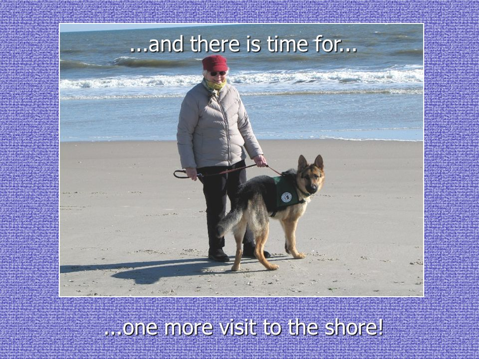 ...one more visit to the shore!...and there is time for...