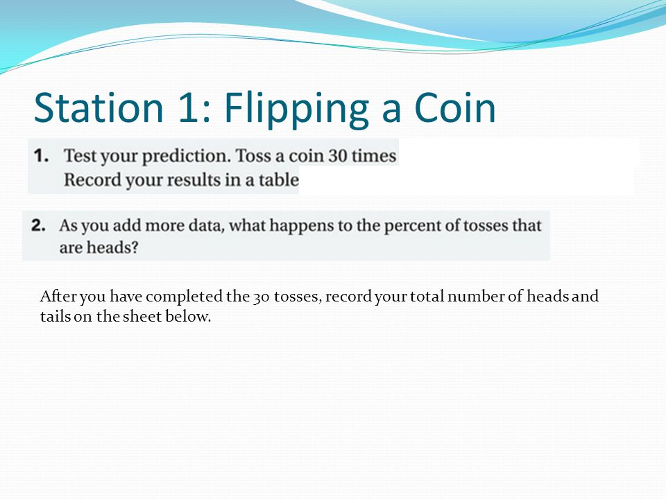 Station 1: Flipping a Coin