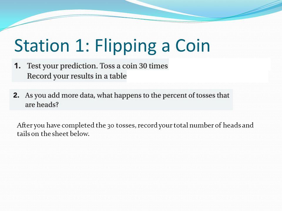 Station 4: A Fair Coin?